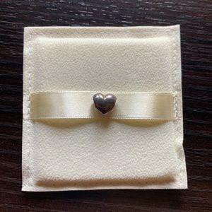 Authentic Pandora heart spacer charm